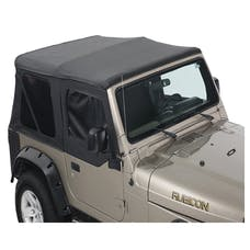 King 4WD 14010135T Replacement Soft Top With Tinted Upper Doors - Black Diamond