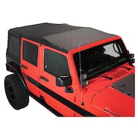 King 4WD 14010435 Jeep Wrangler JKU Replacement Soft Top