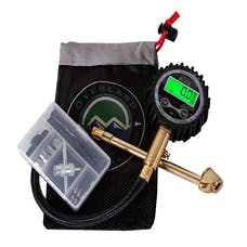 Overland Vehicle Systems 12010001 Digital Tire Gauge with Valve Kit & Storage Bag