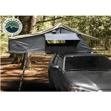 Overland Vehicle Systems 18029936 Nomadic 2 Extended Roof Top Tent, Dark Gray Base, Green Rain Fly & Black Cover