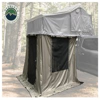 Overland Vehicle Systems 18039836 Nomadic 3 Annex - Green Base With Black Floor & Travel Cover