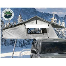 Overland Vehicle Systems 18039926 Nomadic 3 Extended Roof Top Tent, White Base, Dark Grey Rain Fly & Black Cover