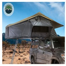 Overland Vehicle Systems 18039936 Nomadic 3 Extended Roof Top Tent, Dark Gray Base, Green Rain Fly & Black Cover