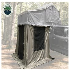 Overland Vehicle Systems 18049836 Nomadic 4 Annex - Green Base With Black Floor & Travel Cover