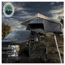 Overland Vehicle Systems 18049936 Nomadic 4 Extended Roof Top Tent, Dark Gray Base, Green Rain Fly & Black Cover