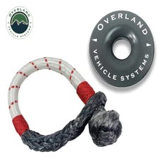 "Overland Vehicle Systems 19-4716 Combo Pack Soft Shackle 7/16"" 41,000 lb. and Recovery Ring 4.0"" 41,000 lb. Gray"