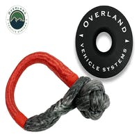 """Overland Vehicle Systems 19-6580 Combo Pack Soft Shackle 5/8"""" 44,500 lb. and Recovery Ring 6.25"""" 45,000 lb. Black"""