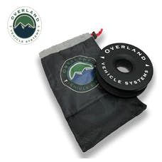 "Overland Vehicle Systems 19240004 Recovery Ring 6.25"" 45,000 lb. Black With Storage Bag"