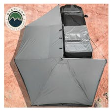 Overland Vehicle Systems 19519907 Nomadic Awning 270 Dark Gray Cover, Black Transit Cover Driver Side & Bracket
