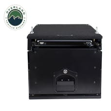 Overland Vehicle Systems 21010201 Cargo Box With Slide Out Drawer & Working Station Size - Black Powder Coat