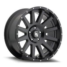"LRG Rims 10729083712N - LRG107 Gamer Series Wheel - 20""x 9"" - Bolt Pattern 6x5.5"" - Backspacing 4.5"" - Offset -12 - Satin Black"