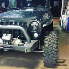 MCE Fenders FFJKG2-N-F 2 Front Hi-Clearance Flat Flares Textured Black
