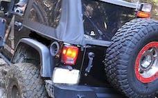 MCE Fenders FFJKG2-R 2 Rear Hi-Clearance Flat Flares Textured Black