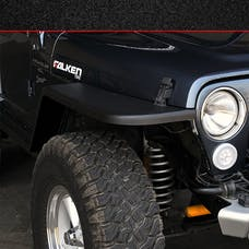 MCE Fenders FFTJG2-6 2 Front and 2 Rear Flat Fender Flares Textured Black