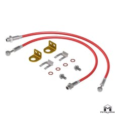 MetalCloak 1103 - TJ/XJ Wrangler Replacement Brake Lines, Front 21""