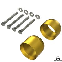 MetalCloak - 7078 -Jeep JK Wrangler Exhaust Spacer Kit ('12 - Current)