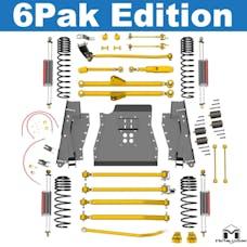 MetalCloak - 7142 -TJ Lock-N-Load Long-Arm Suspension System, 6 Pak Edition