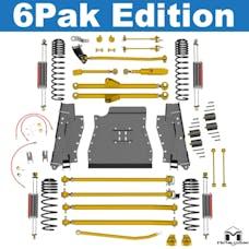 "MetalCloak - 7145 -LJ Lock-N-Load Long-Arm Suspension System, 6 Pak Edition, 4.5""/6"""