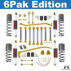 MetalCloak - 7161 -TJ/LJ Wrangler, Long Travel, Short Arm Suspension, 3.5 inch, Aluminum, 6Pak Edition