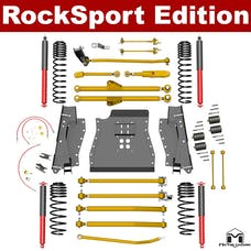 MetalCloak - 7179 -TJ Lock-N-Load Long-Arm Suspension System, RockSport Edition, 4.5 inch/6 inch