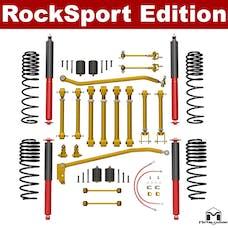 MetalCloak 7195-AL - TJ-LJ Wrangler Long Travel, Aluminum Short Arm Suspension, 3.5in, RockSport Edition