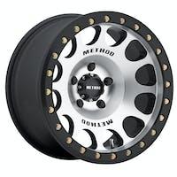 Method Race Wheels MR10579050338B - MR105 Beadlock, 17x9, -38mm Offset, 5x5, 71.5mm Centerbore, Machined With Matte Black Ring , w/ BH-H24125