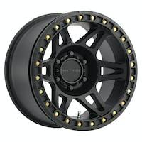 Method Race Wheels MR10679050544B - MR106 Beadlock, 17x9, -44mm Offset, 5x5, 71.5mm Centerbore, Matte Black , w/ BH-H24125
