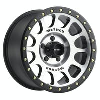 Method Race Wheels MR30568012300 - MR305 NV, 16x8, 0mm Offset, 5x4.5, 83mm Centerbore, Machined/Black Street Loc