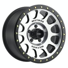 Method Race Wheels MR30568012300 - MR305 NV, 16x8, 0mm Offset, 5x4.5, 83mm Centerbore, Machined/Black Street Loc