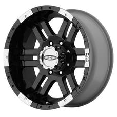Moto Metal MO9516912312 - 951 Series, Size 16x9, Bolt Pattern 5x4.5, Back Spacing 4.53 - Black