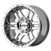 "Moto Metal MO9517950212 - 951 Series, Size 17""x9"", Bolt Pattern 5x5"", Back Spacing 4.53 - Chrome"