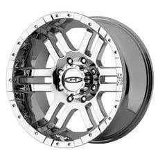 "Moto Metal MO9517950212 - 951 Series, Size 17""x9"", Bolt Pattern 5x5"", Back Spacing 4.53 - Chrome"