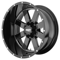 "Moto Metal MO96221235344N - MO962 Wheel - 20""x12"" - Bolt Pattern 5x5"" - Backspacing 4.77"" - Gloss Black"