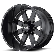 Moto Metal MO96221280344N - MO962 Gloss Black With Milled Accents 20x12 8x6.5