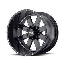 "Moto Metal MO96229035300 - MO962 Wheel - 20""x9"" - Bolt Pattern 5x5"" and 5x5.5"" - Backspacing 5"" - Offset 0 - Gloss Black"