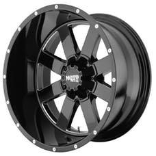 Moto Metal MO96229080300 - MO962 Gloss Black /w Milled Accents 20x9 8x6.5