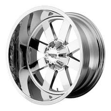 "Moto Metal MO96281035224N - MO962 Wheel Chrome, 18""x10"" 5X5 Bolt Pattern, Back Spacing 4.6"""