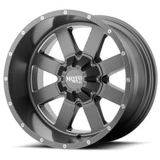 "Moto Metal MO96281035424N - MO962 Wheel 18X10, Bolt Pattern 5X5.0/5.5, Backspacing 4.56"" - Offset -24mm - Satin Gray / Milled Accents"