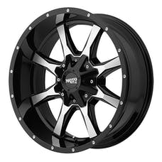 Moto Metal MO97029087318 - MO970 20x9 Gloss Black w Milled Accents 20x9 8x170
