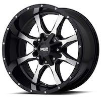 "Moto Metal MO97078035300 - MO970 Wheel - 17""x8"" - Bolt Pattern 5x5"" and 5x5.5"" - Backspacing 4.5"" - Offset 0 - Gloss Black"