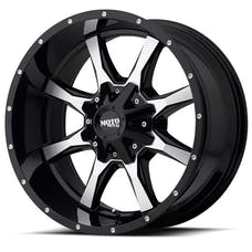 "Moto Metal MO97078035300 - MO970 Wheel - 17""x8"" - Bolt Pattern 5x5"" and 5x5.5"" - Backspacing 4.5"" - Offset 0 - Gloss Black"