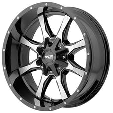 "Moto Metal MO97081086324N - MO970 Wheel 18x10, Bolt Pattern 5x139.70/5x150.00, Backspacing 4.50"" - Offset (-24mm) - Gloss Black"