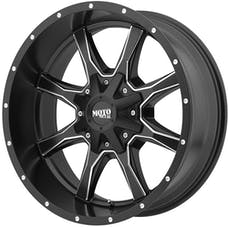 Moto Metal MO97081088924N - MO970 Semi Gloss Black w/Milled Spokes 18x10 8x180