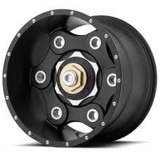 "Moto Metal MO97722035718N - MO977 Link Wheel - 22""x10"" - Bolt Pattern 5x5"" and 5x5.5"" - Backspacing 4.79"" - Offset -18 - Satin Black"