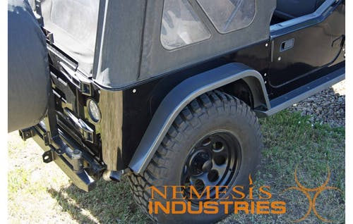 Nemesis Industries 106162 Jeep Tj Tj Unlimited Crawler Rear Fender Flare 97 06 Wrangler Tj Textured
