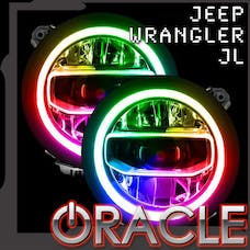 Oracle Lighting 1346-334 Jeep Wrangler JL ORACLE ColorSHIFT RGB+W DRL Upgrade
