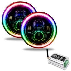 "Oracle Lighting 5769-331 ORACLE 7"" High Powered LED Headlights - Black Bezel"