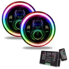 "Oracle Lighting 5769-333 ORACLE 7"" High Powered LED Headlights - Black Bezel"