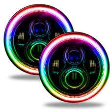 "Oracle Lighting 5769-334 ORACLE 7"" High Powered LED Headlights - Black Bezel"