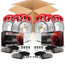 Power Stop LLC KC2798 Z23 Evolution Sport Performance 1-Click Brake Kit w/Calipers